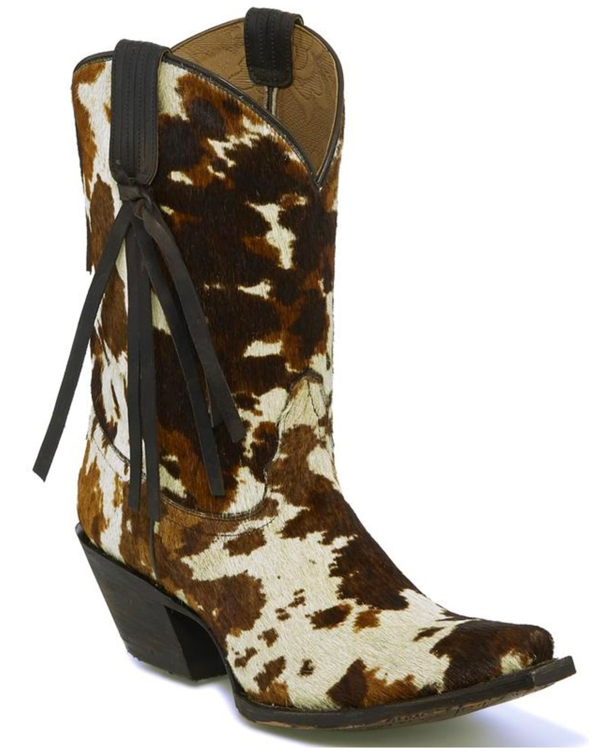 6edf7bdcd94 Tony Lama Women s Tri-Color Hair On Calf Cowgirl Boots - Snip Toe ...