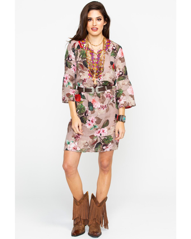 Johnny Was Women S Flare Sleeve Tunic Dress Boot Barn