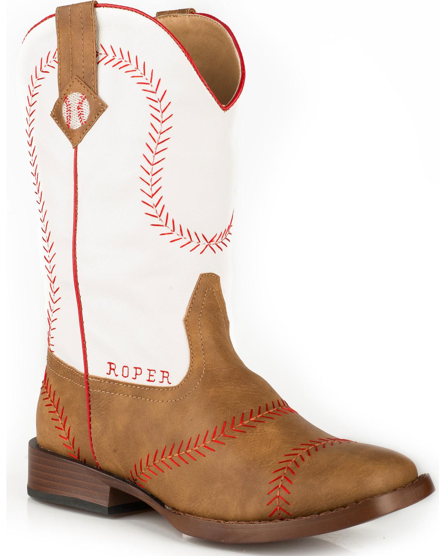789cdd68e50 Roper Boys' Baseball Cowboy Boots - Square Toe