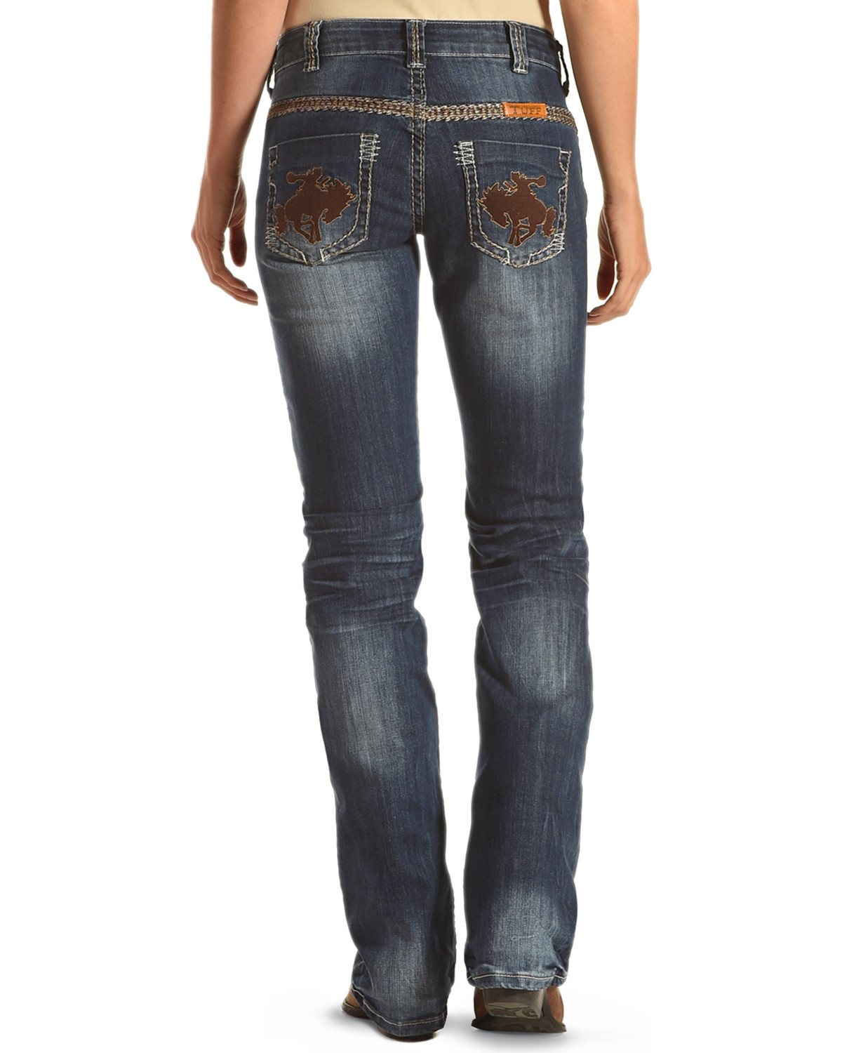 aa51c09bb Zoomed Image Cowgirl Tuff Women's Wild Wooly Rides Again Jeans , Blue, ...