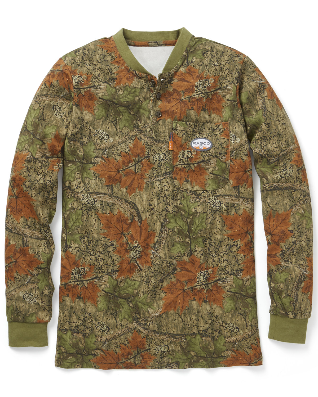 efca1b5f9979 Rasco Men s Camo FR Henley T-Shirt