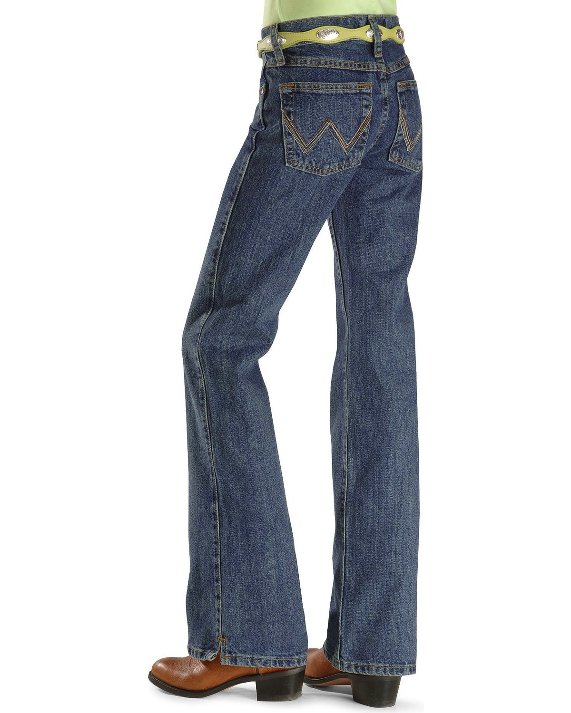 488ebf6b Zoomed Image Wrangler Girls' Cash Ultimate Riding Jeans 7-14, Am Spirit, hi-