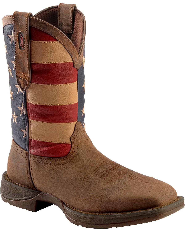 Rebel By Durango Men S Steel Toe American Flag Western