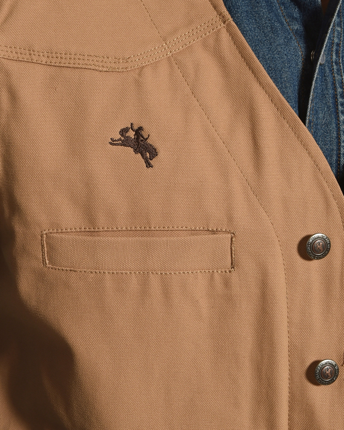 Wyoming Traders Men's Tan Texas Concealed Carry Vest