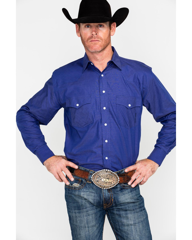 5ebac3d4b67 Resistol Men s Caldwell Solid Long Sleeve Western Shirt