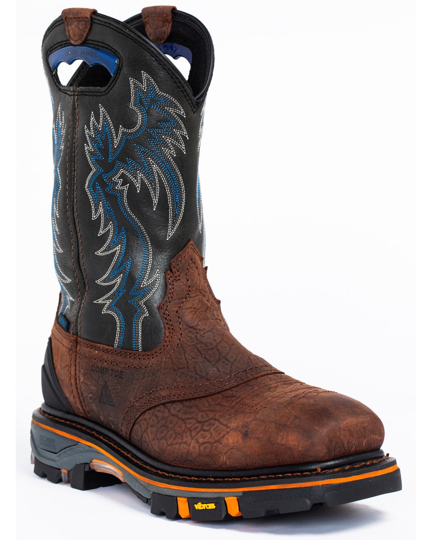 79b2c80dcc3 Cody James Men's Decimator Waterproof Western Work Boots - Composite Toe