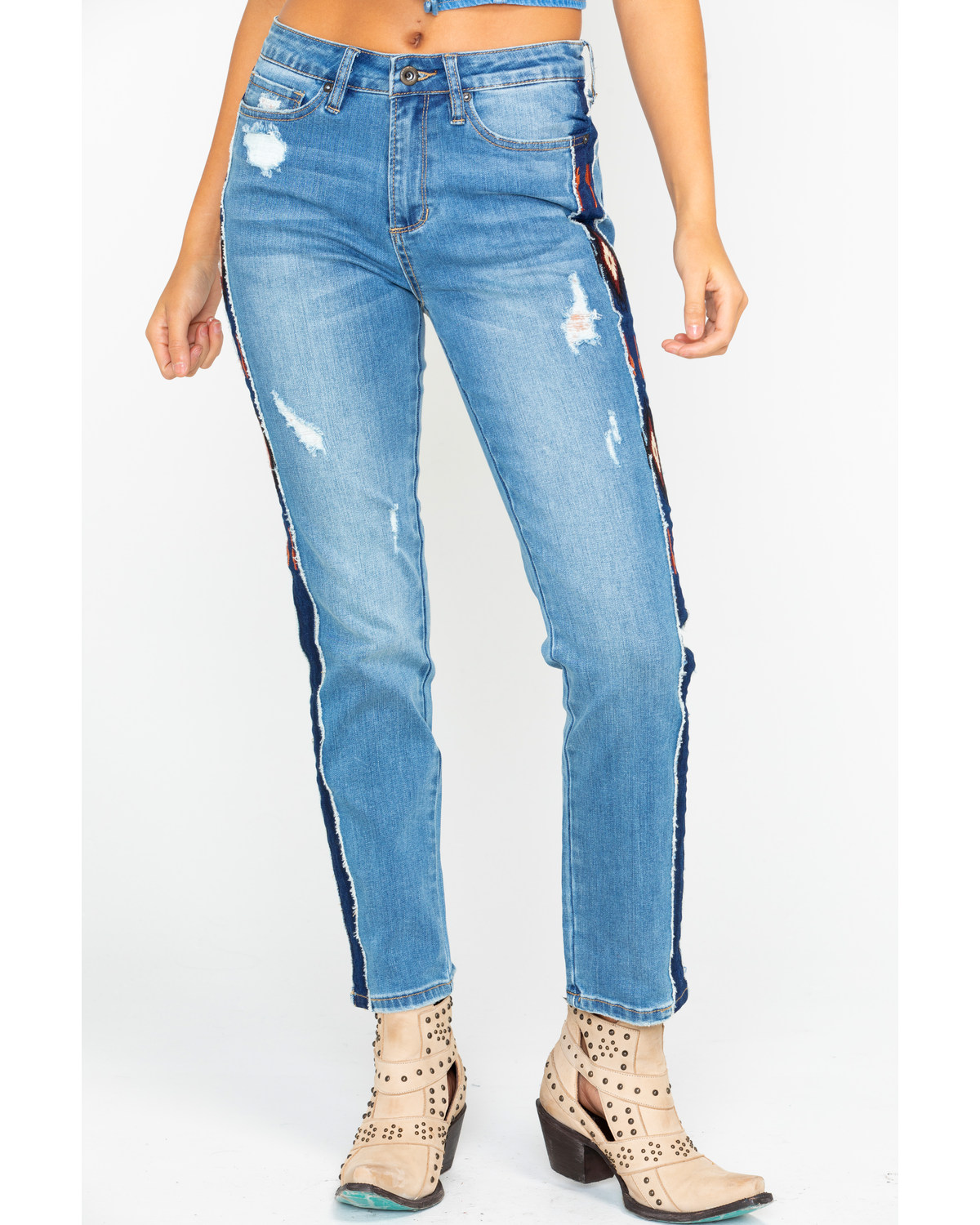 outlet store closer at fashion Grace In LA Women's Aztec Stripe Girlfriend Tapered Jeans   Boot Barn