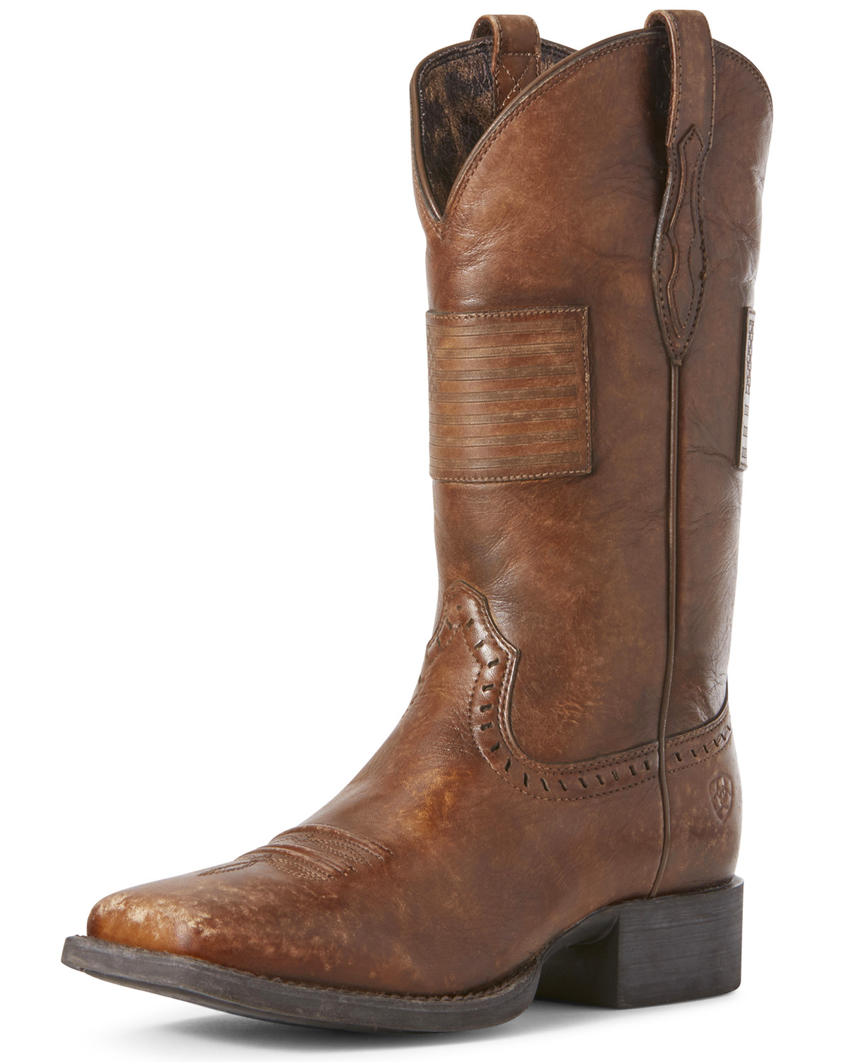 04de9ff52ac Ariat Women's Round Up Patriot Western Boots - Wide Square Toe