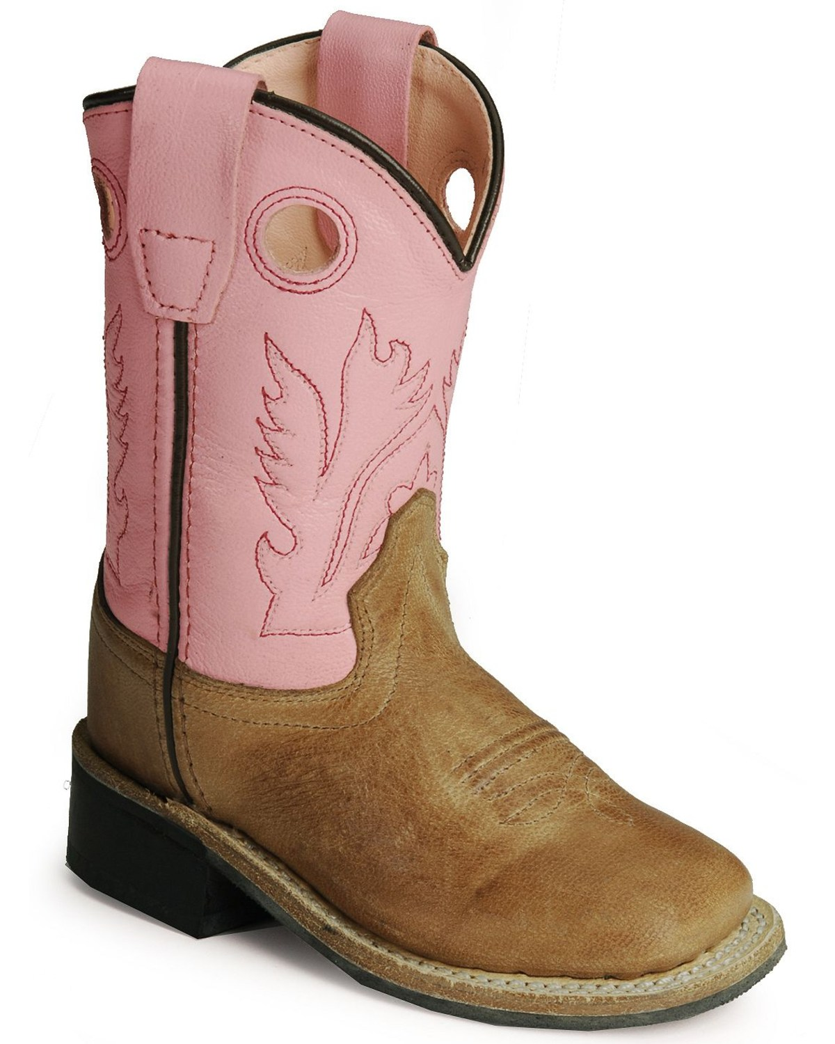 006e9d7be8c Old West Toddler Girls' Pink Cowgirl Boots - Square Toe