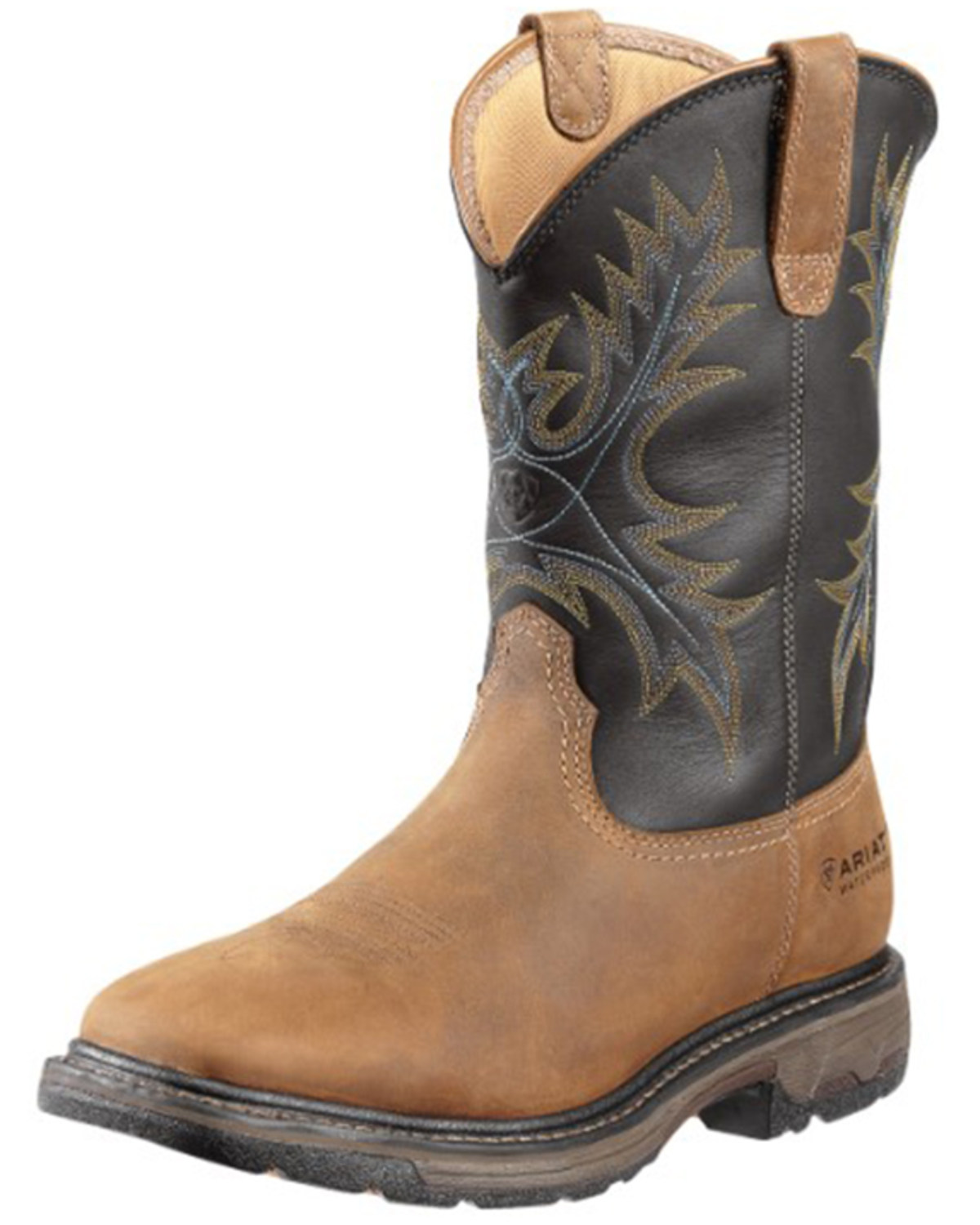 dc5c3686897ae Zoomed Image Ariat Men's Workhog H2O Waterproof Steel Toe Western Work Boots,  Aged Bark, hi-