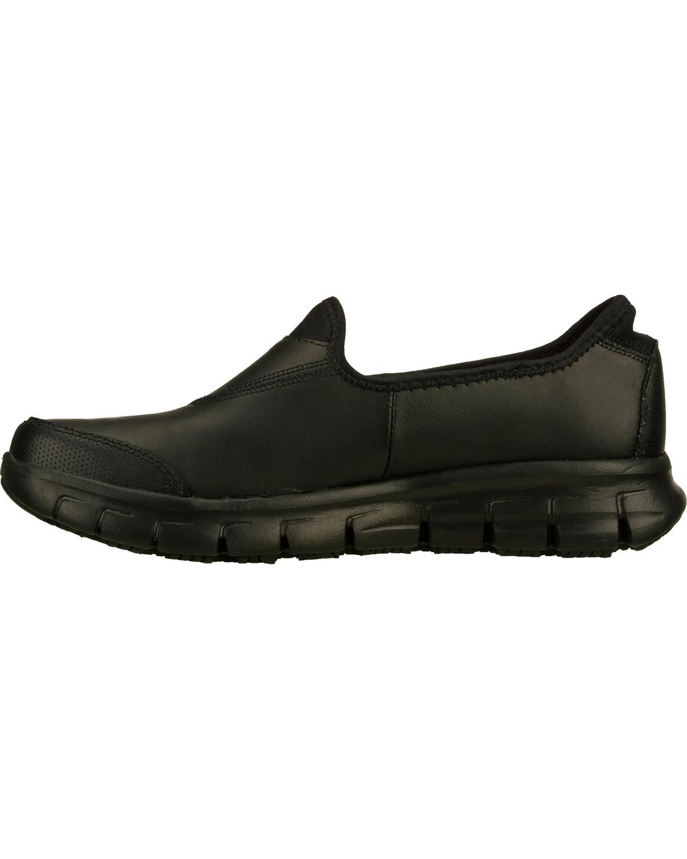 82cbec070265 Skechers Women s Black Sure Track Slip Resistant Slip-On Work Shoes ...