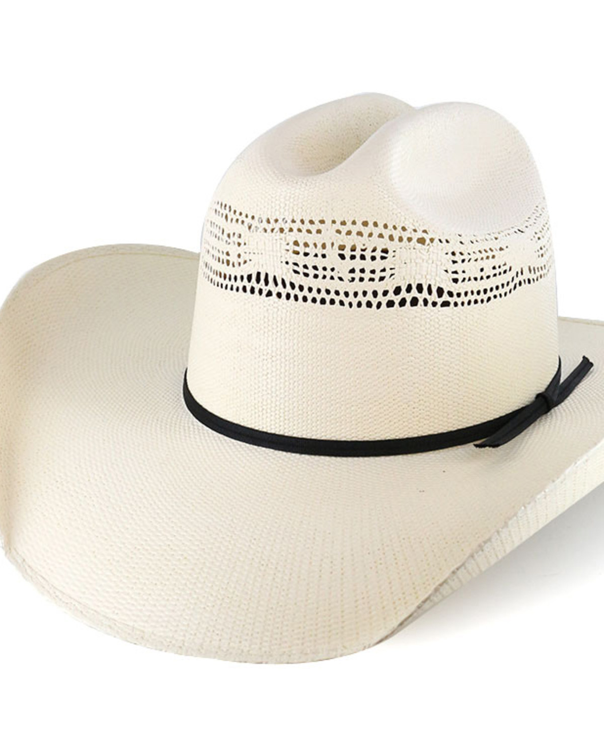 Cody James® Cattleman s Crease Straw Western Hat  a53eb6fc81f4