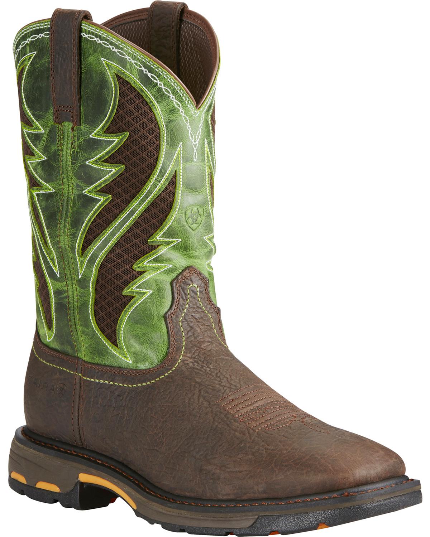 f955d1e6e90 Ariat Men's WorkHog® VentTEK Comp Toe Pull-On Safety Work Boots