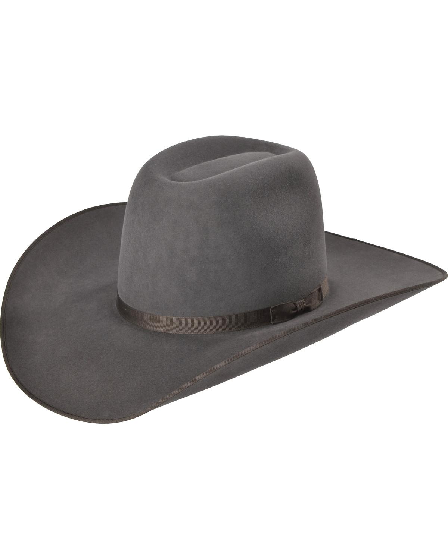 Serratelli Men s Granite 6X Fur Felt Western Hat  a5b6f2ddfd68