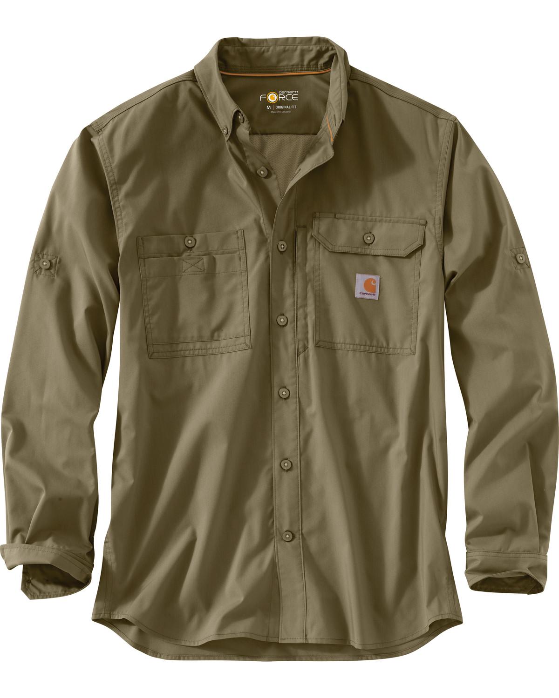 6d9eafcedb Carhartt Men s Force Ridgefield Solid Long Sleeve Shirt