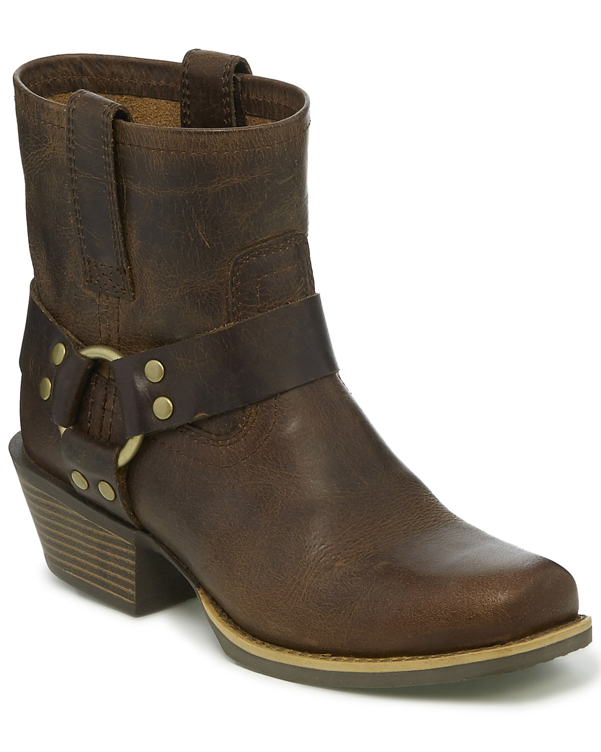 online store 332c9 3355a Justin Women's Heritage Buffalo Moto Boots - Square Toe